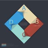 Plantilla del diseño de Infographic con las etiquetas de papel Foto de archivo libre de regalías