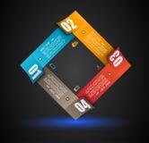 Plantilla del diseño de Infographic con las etiquetas de papel Fotografía de archivo libre de regalías