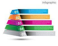 Plantilla del diseño de Infographic con las etiquetas de papel Imágenes de archivo libres de regalías