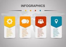 Plantilla del diseño de Infographic con rectángulos redondeados libre illustration