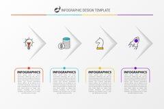 Plantilla del diseño de Infographic Concepto del negocio con 4 opciones libre illustration