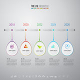 Plantilla del diseño de Infographics con los iconos fijados Imagen de archivo