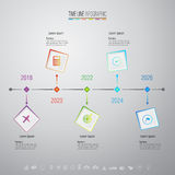 Plantilla del diseño de Infographics con los iconos fijados Fotos de archivo
