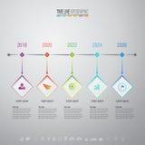 Plantilla del diseño de Infographics con los iconos fijados Fotografía de archivo libre de regalías