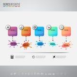 Plantilla del diseño de Infographics con los iconos fijados Imágenes de archivo libres de regalías