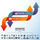 Plantilla del diseño de Infographics de la flecha Fotografía de archivo