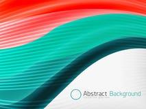 Plantilla del diseño de la abstracción de la onda del color del arco iris Fotografía de archivo