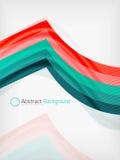 Plantilla del diseño de la abstracción de la onda del color del arco iris Fotografía de archivo libre de regalías