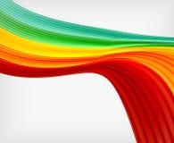 Plantilla del diseño de la abstracción de la onda del color del arco iris Imagen de archivo