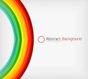 Plantilla del diseño de la abstracción de la onda del color del arco iris Imagen de archivo libre de regalías