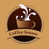 Plantilla del diseño de la bandera del vintage del café Fotografía de archivo