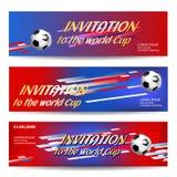 Plantilla del diseño de la bandera para el acontecimiento deportivo, fútbol del deporte ilustración del vector