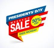 Plantilla del diseño de la bandera de la venta del día del ` de los presidentes libre illustration