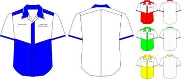 Plantilla del diseño de la camisa del cuello Fotografía de archivo libre de regalías