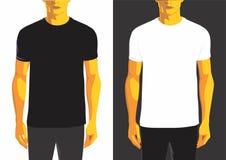 Plantilla del diseño de la camiseta del hombre Imágenes de archivo libres de regalías