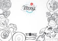 Plantilla del diseño de la comida del vector ilustración del vector