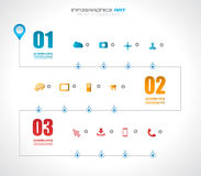 Plantilla del diseño de la cronología de Infographic con las etiquetas de papel ilustración del vector
