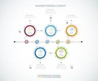 Plantilla del diseño de la cronología del infographics del vector Fotografía de archivo libre de regalías