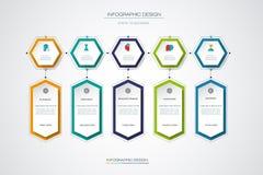 Plantilla del diseño de la cronología del infographics del vector Imagenes de archivo
