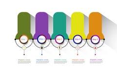 Plantilla del diseño de la cronología del infographics del vector para el concepto del negocio ilustración del vector