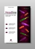 Plantilla del diseño de la cubierta con la mezcla de las bacterias Vector Fotos de archivo libres de regalías