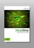 Plantilla del diseño de la cubierta de las bacterias de los píloros de Helicobacter en A4 Imágenes de archivo libres de regalías