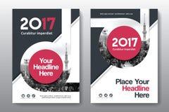 Plantilla del diseño de la cubierta de libro del negocio del fondo de la ciudad en A4 Fotografía de archivo libre de regalías
