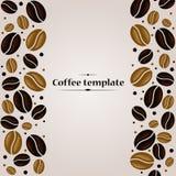 Plantilla del diseño de la cubierta del vintage de los granos de café Fotos de archivo