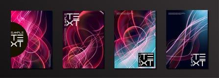 Plantilla del diseño de la cubierta del efecto del resplandor ilustración del vector
