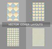 Plantilla del diseño de la cubierta Vector la disposición de la libreta, fondo geométrico, diseño del cartel Imágenes de archivo libres de regalías