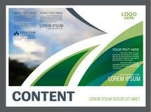 Plantilla del diseño de la disposición de la presentación del verdor Página de cubierta del informe anual Fotos de archivo