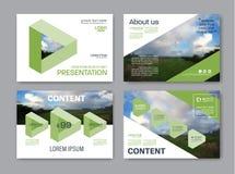 Plantilla del diseño de la disposición de la presentación del verdor Página de cubierta del informe anual Imagenes de archivo