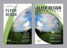 Plantilla del diseño de la disposición del folleto del verdor Imágenes de archivo libres de regalías