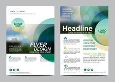 Plantilla del diseño de la disposición del folleto Fondo moderno de la presentación de la cubierta del prospecto del aviador del  Imagen de archivo