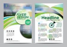 Plantilla del diseño de la disposición del folleto Fondo moderno de la presentación de la cubierta del prospecto del aviador del  Fotos de archivo libres de regalías