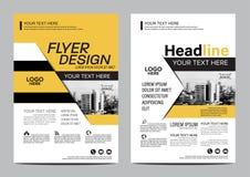 Plantilla del diseño de la disposición del folleto Fondo moderno de la presentación de la cubierta del prospecto del aviador del  Fotografía de archivo