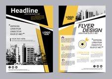 Plantilla del diseño de la disposición del folleto Fondo moderno de la presentación de la cubierta del prospecto del aviador del  Imágenes de archivo libres de regalías