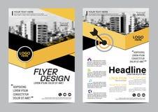 Plantilla del diseño de la disposición del folleto Fondo moderno de la presentación de la cubierta del prospecto del aviador del  Imagenes de archivo