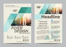 Plantilla del diseño de la disposición del folleto Fondo moderno de la presentación de la cubierta del prospecto del aviador del  Foto de archivo libre de regalías