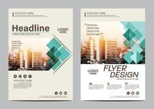 Plantilla del diseño de la disposición del folleto Fondo moderno de la presentación de la cubierta del prospecto del aviador del  Imagen de archivo libre de regalías