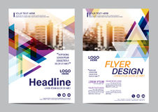 Plantilla del diseño de la disposición del folleto Fondo moderno de la presentación de la cubierta del prospecto del aviador del  Foto de archivo