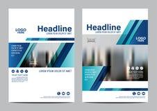 Plantilla del diseño de la disposición del folleto Fondo moderno de la presentación de la cubierta del prospecto del aviador del  Fotografía de archivo libre de regalías