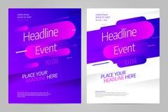 Plantilla del diseño de la disposición del vector para el evento