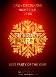 Plantilla del diseño de la fiesta de Navidad del vector Ilustración del vector Imagen de archivo