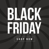 Plantilla del diseño de la inscripción de la venta de Black Friday Imágenes de archivo libres de regalías