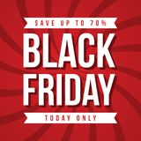 Plantilla del diseño de la inscripción de la venta de Black Friday Foto de archivo libre de regalías