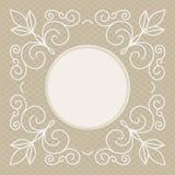 Plantilla del diseño de la invitación de la boda - fondo decorativo para la tarjeta de felicitación en la mono línea estilo Foto de archivo