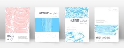 Plantilla del diseño de la página de cubierta Disposición del folleto de Minimalistic Página de cubierta abstracta de moda impres ilustración del vector