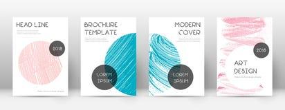 Plantilla del diseño de la página de cubierta Disposición de moda del folleto ilustración del vector