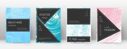 Plantilla del diseño de la página de cubierta Disposición negra del folleto Página de cubierta abstracta de moda impresionante libre illustration